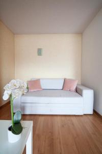 Ein Sitzbereich in der Unterkunft Hotel Garni Brigitte