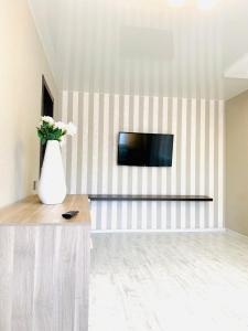 Телевизор и/или развлекательный центр в Apartment Chkalova