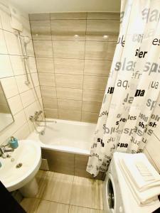 Ванная комната в Apartment Chkalova