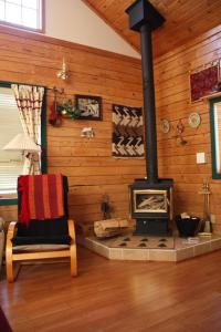 A seating area at The Gingerbread Cabin