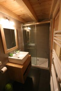 Salle de bains dans l'établissement Domaine des Brouilles