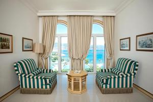 A seating area at Salmakis Resort & Spa