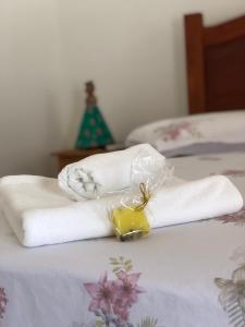 Cama ou camas em um quarto em Viva Brasil Pousada