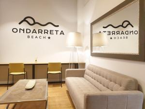 Zona de estar de Hotel Ondarreta Beach
