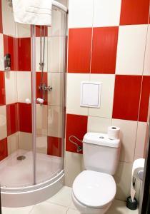 A bathroom at HOTEL DELTA SEČ