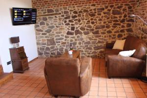 Гостиная зона в B&B La Ferme de l'Apéro