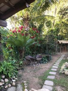Uma varanda ou outra área externa em Baianeiro Hostel