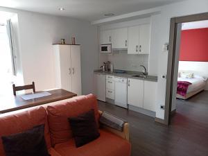 Cuisine ou kitchenette dans l'établissement Tresanea Apartamentos
