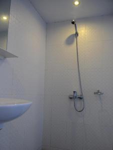A bathroom at New Yangon Hotel