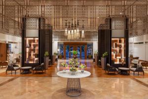 The lounge or bar area at Hilton Mandalay