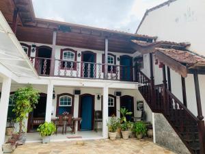 Uma varanda ou outra área externa em Pousada Marques