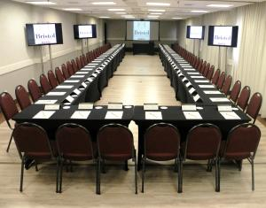 The business area and/or conference room at Bristol International Airport Hotel