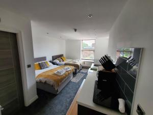 A room at The Ashcroft Apartments