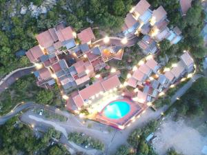 A bird's-eye view of Hotel Olimpia