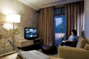 A television and/or entertainment center at Fraser Suites Singapore (SG Clean)