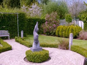 A garden outside B2B-flats