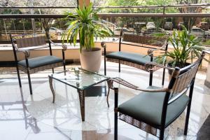 Uma varanda ou terraço em Holambra Garden Hotel