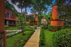 A garden outside Hacienda San Miguel Hotel & Suites