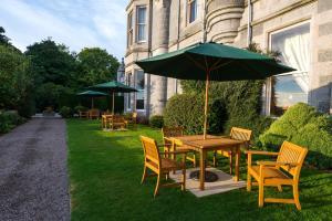 A garden outside Ardoe House Hotel & Spa