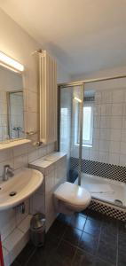 A bathroom at Hotel Hillegosser Hof