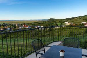 Ein Balkon oder eine Terrasse in der Unterkunft Weingut & Pension zum Seeblick Familie Sattler