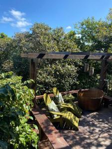 A porch or other outdoor area at Pousada Casa Caiada