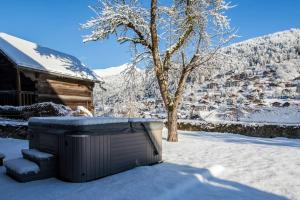 Ferme de Coutettaz during the winter