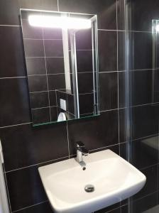 A bathroom at Hotel Impuls