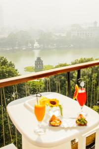 A balcony or terrace at Apricot Hotel