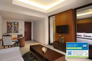 The lounge or bar area at Golden Tulip Jineng Resort Bali
