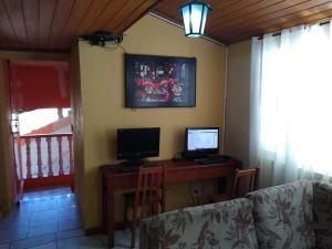 A seating area at Pousada Bela Vista