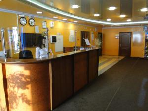 Лобби или стойка регистрации в Гостиница Шахтер