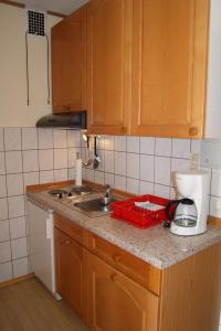 Küche/Küchenzeile in der Unterkunft Haus Mirabell