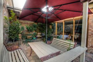 A porch or other outdoor area at Steampacket Inn