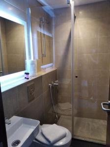 A bathroom at Pension Ciudadela