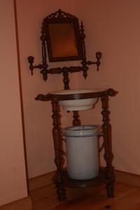 A bathroom at El Jardin de la Huerta