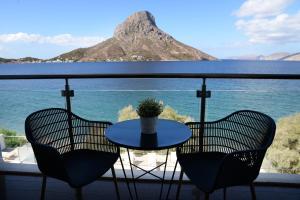 A balcony or terrace at MASSOURI BEACH HOTEL