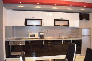 A kitchen or kitchenette at Apartments Kali