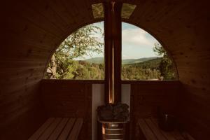 Balkon lub taras w obiekcie Sielska Chyża & Filek