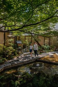 Guests staying at Nishiyama Ryokan