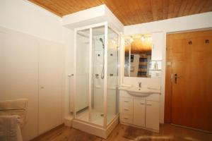 Koupelna v ubytování Bockwirt