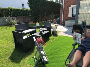 Een patio of ander buitengedeelte van B&B Eb & Vloed