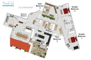 The floor plan of Morada Sol - Holiday Villas in Cascais