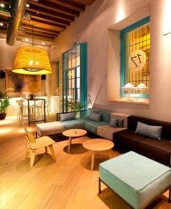 Zona de estar de Hotel Doña María