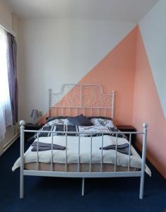Postel nebo postele na pokoji v ubytování Penzion Stavař