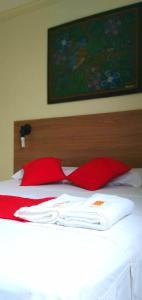 Cama o camas de una habitación en Central Hotel Manaus