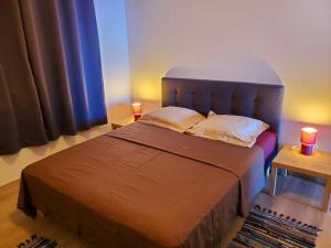 Cama ou camas em um quarto em Tahiti Open View to Moorea island