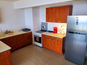 A cozinha ou cozinha compacta de Tahiti Open View to Moorea island