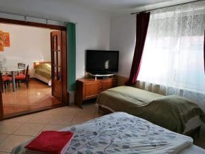 Un pat sau paturi într-o cameră la Hostel Pascalis Alesd