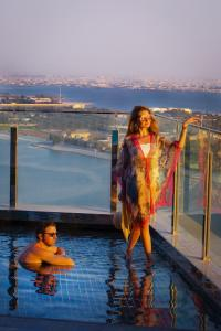 Children staying at Andaz Capital Gate Abu Dhabi - a concept by Hyatt